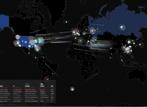 You can watch cyber attacks as they happen live on the Norse website