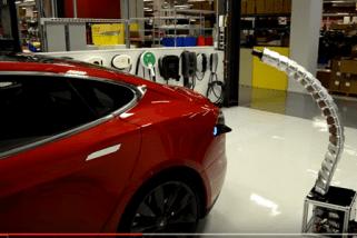 Tesla Prototype Autonomous Charger